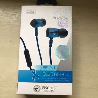Blue ribbon fischer earpiece