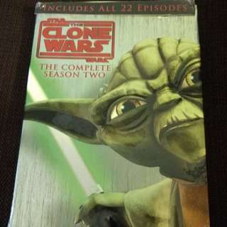 BN HTF DVD Star Wars: The Clone Wars - The Complete Season Two