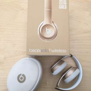 Beats Solo 2 Wireless gold headphones