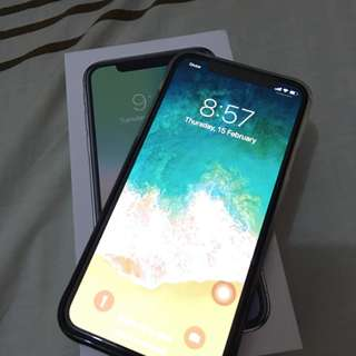 Iphone X 256 gb silver for sale