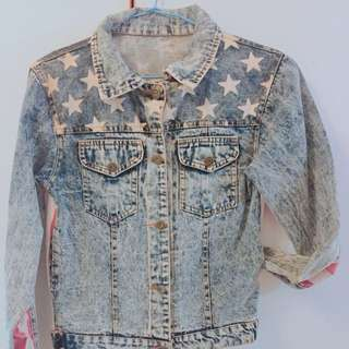 🚚 美國國旗牛仔外套