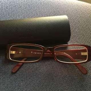 Prada red eyeglasses 眼鏡 約500度