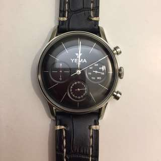 YEMA Mens black Watch