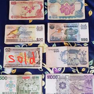 Old Singapore Dollar Notes $$