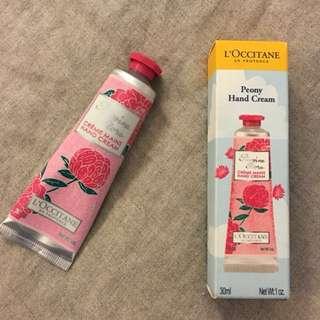 New L'Occitane Pivione Flora 'Peony' Hand Cream