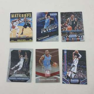 Legit Used Russell Westbrook Lot Set Of 13 NBA Cards