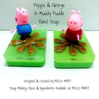 Handmade Soap Peppa Pig in Muddy Puddle DIY