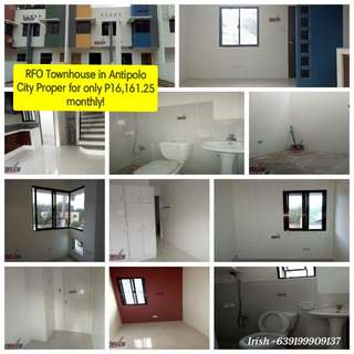 RFO Townhouse in Antipolo City