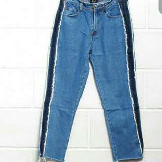 Double frayed jeans