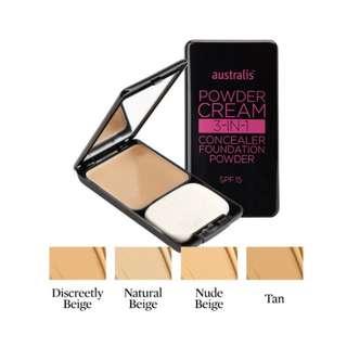 🌸 australis powder cream 3 in 1 🌸