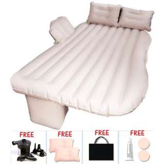 FULL SET Inflatable Car Bed Car Air Mattress for Backseat + 2 Pillows + Air Pump