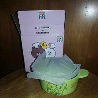7 11 Line friends x Le Creuset Cony & Brown圓型鍋 (連紙盒)