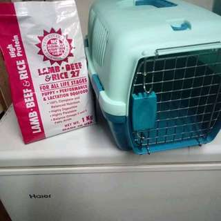 Travelcage with free 1kg Lamb Beef n rice