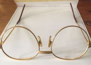 Cartier Gold Plated Men's Eyewear Frame
