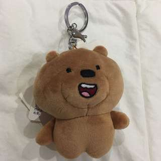 We Bare Bears Grizzly Head Keychain