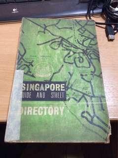 Street directory Singapore 1969 edition