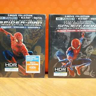 USA Blu Ray 4K UHD - Spiderman (Andrew Garfield / Toby Maguire)