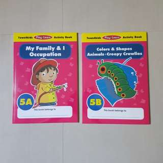 Town4kids Play n Learn Activity Books, Kindergarden, Kid's Books *Brand New*
