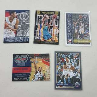 Legit Used Anthony Davis Lot Set Of 15 NBA Cards