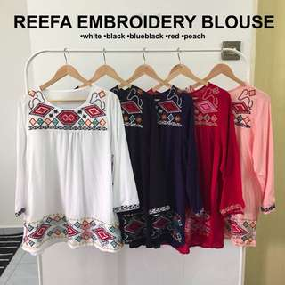 [PO] REEFA EMBROIDERY BLOUSE