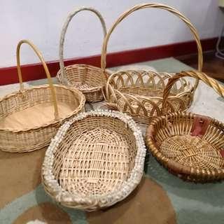 Rotan Baskets (5 itmes)