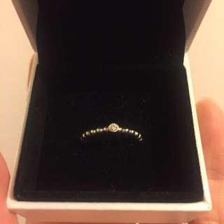 全新pandora鑽石戒指 有單有盒