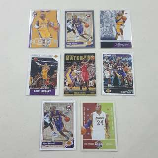 Legit Used Kobe Bryant Lot Set Of 8 NBA Cards