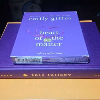 EMILY GIFFIN HARDCOVER BOOK & SARAH DESSEN 8-CD AUDIOBOOK