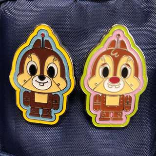 迪士尼 徽章 Disney Pin Chip Dale 機械人