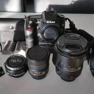 Nikon D90 full set, additional lens, nikor fisheye, SB800 flash and accessories