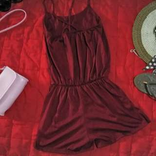 Backless one piece romper short