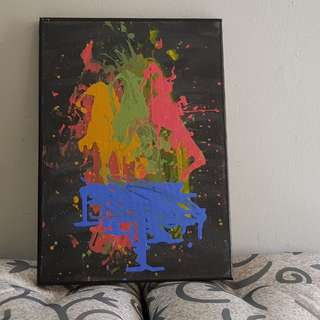 Abstract Art - Troika / 14 X 10 Inches