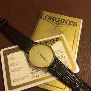 浪琴LONGINES古董石英手錶