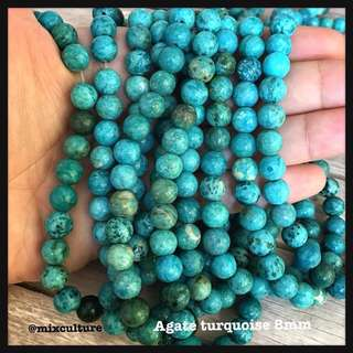 Agate turquoise 8mm