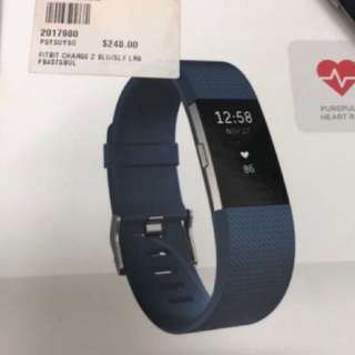 Fitbit Charge 2 Heart Rate+Fitness Wristband (Blue)