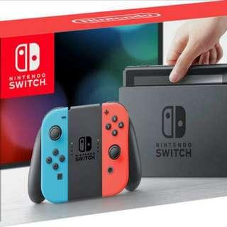 收switch自出價, 任何色都得, 一定要包盒同其他用具例如叉電器