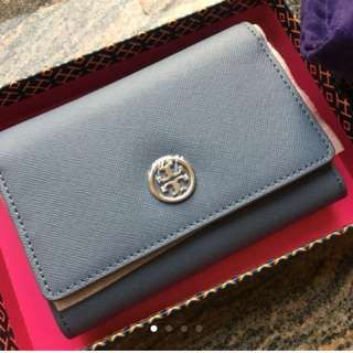 100% 新 new & real Tory Burch 藍色銀包 blue wallet