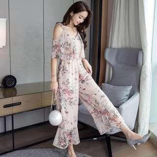 Floral Jumpsuit w/ Lining
