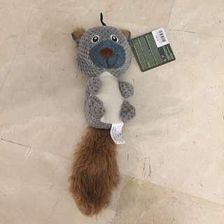 Dog medium stuffed chew toy squirrel