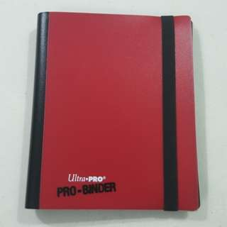 Legit Used Ultra Pro Binder 4 Pocket Red White