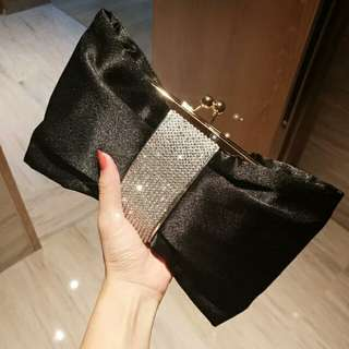 Black Clutch Party Dinner Bag
