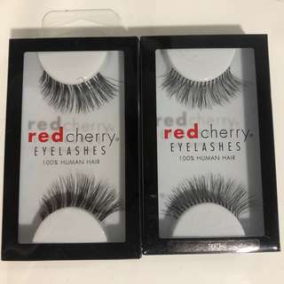 2x red cherry lashes
