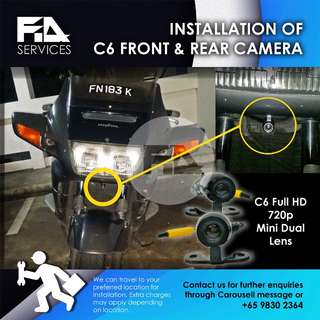 Motorcycle Front & Rear Camera Installation
