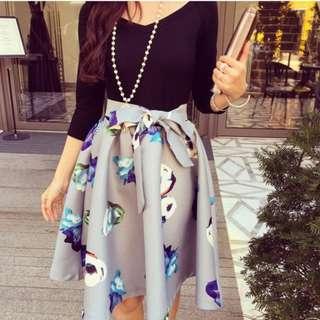 Combined Floral Elegant Dress