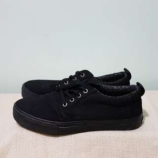 TOMS all black sneakers