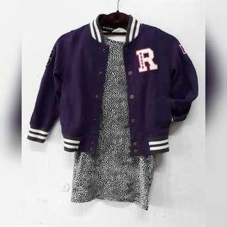 4-6 girls: H&M bodycon dress & jersey jacket