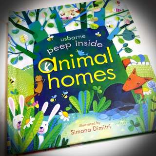 USBORNE PEEP INSIDE ANIMAL HOME