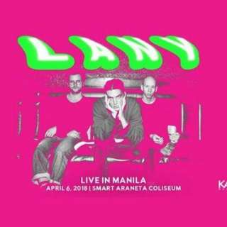 LANY LIVE IN MANILA (PATRON A). April 6, 2018