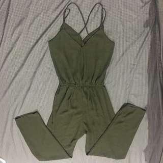 Jumpsuit Olive Green