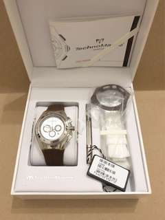 Technomarine Cruise Mirror Unisex Chronograph Watch 110068 - chocolate brown